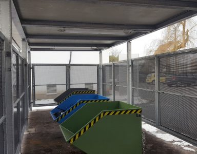 ueberdachung Muellcontainer